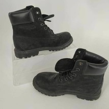 Timberland Womens Boots 8658A Black Leather Premium 6 In Lace Waterproof... - $69.48