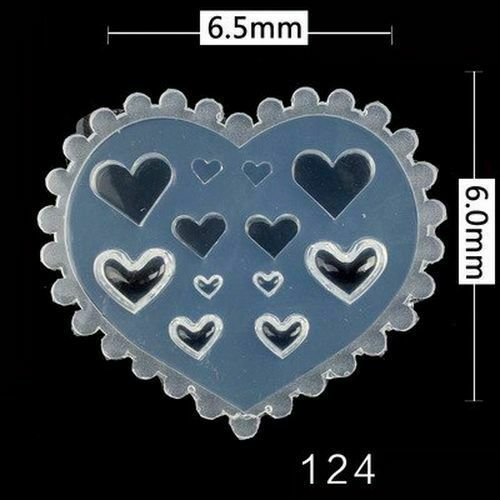 Primary image for DIY Halloween Acrylic 3D Mold Nail Art Decorations Pumpkin Silicone Bat Heart