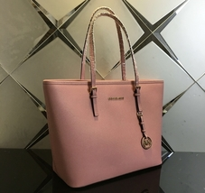 MICHAEL KORS JET SET  TRAVEL large CARRYALL TOTE  SHOULDER LEATHER PINK ... - $129.00