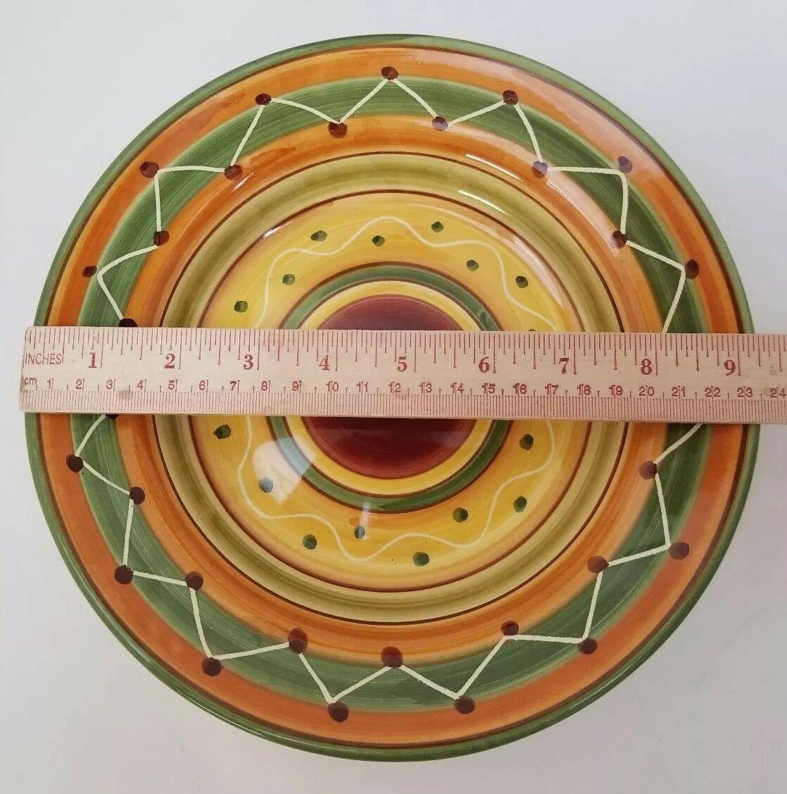 "Pier 1 Etrusco 9.5"" Soup Pasta Bowl Handpainted Dishwasher Safe Made Italy image 5"
