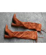 Women Over The Knee Boots Zipper spring Winter boots goodnight macaroon ... - $66.40