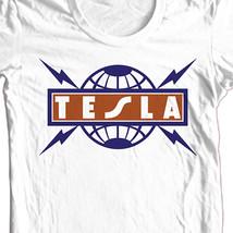 Tesla T-shirt 80's heavy metal retro classic rock concert cotton graphic tee image 1