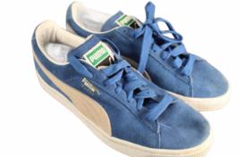 Women Blue Suede Puma Size 7.5 Shoe Sneaker Athletic Casual Low Top image 1