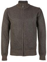 E-38 Italy Men's Slim Fit Luxury Wool Zip Up Pullover Hoodie Cardigan Sweater image 4