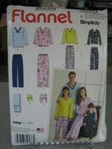 Simplicity S0533 Adults & Childs Pajamas & Slippers Pattern - Sz XS-XL/S... - $10.88