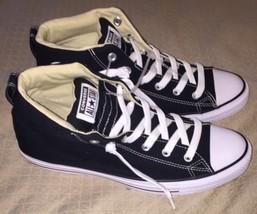 Converse CT Street MID Hi Unisex Padded Sneakers Black/White 149545F Sz 9, 11 L - $59.95