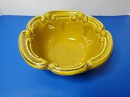 Vintage California Originals Pottery Ceramic Bowl USA Yellow Mustard 999... - $22.76