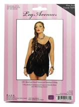 New Leg Avenue Women's Sexy Lingerie Lace Camisole Dress Plus Size Black 8717Q image 3