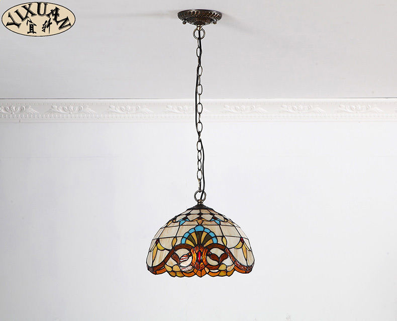 Pastoral Tiffany Baroque Pendant Light Ceiling Lamp Home Lighting Fixture 11""