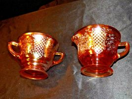 Marigold Normandie Cream and Sugar Depression Glass AA19-CD0029 Vintage image 6
