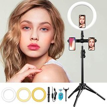 MOUNTDOG 10.2'' Selfie Ring Light with Tripod Stand - LED Camera Selfie - $86.44