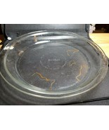 Pyrex Clear Glass Pieplate 209 33 9 In 23 Cm lowercase encircled details - $9.80