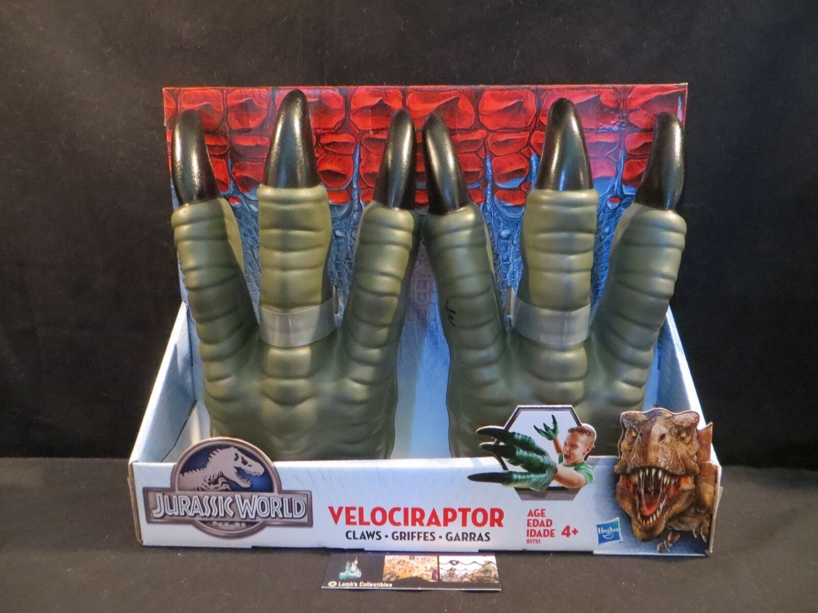 Primary image for Jurassic World velociraptor claws Hasbro Raptor pretend play dinosaur costume