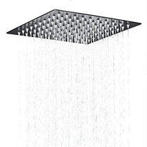 Hiendure Stainless Steel Bathroom Square Rainfall Shower Head 12 Inch,oil Rubbed