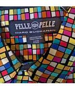 Men's Pelle Pelle Marc Buchanan Allover Print Multicolor Long Sleeve Shi... - $64.35