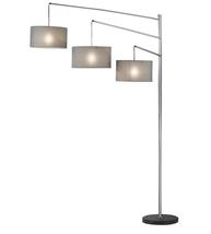Adesso 4255-22 Wellington Floor Lamps Satin Steel 1-light - $300.00