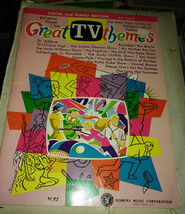 Great TV  themes Batman Fiipper Uncle etc songbook vocal piano 60s - $22.99