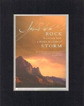 Jesus is a Rock . . . 8 x 10 Inches Biblical/Religious Verses set in Double Beve - $11.14