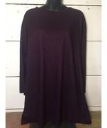 AVON STYLE Size 14-16 Vintage Purple Crinkle Long Sleeve Tunic - $14.84