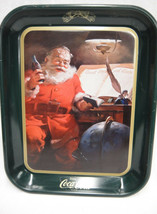 Vintage Coca Cola Christmas Tray Santa w List of Good Boys & Girls Heavy... - $24.74