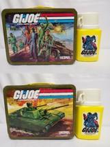 ORIGINAL Vintage 1982 GI Joe Metal Lunch Box + Thermos (side dented) - $74.44
