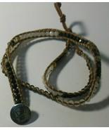 Joseph Nogucci Black and White Glass Bead Wrap Bracelet  - $16.82