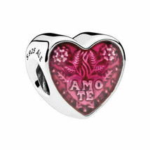 Authentic S925 Pandora Latin Love Enamel Heart Charm Bead 792048EN117 - $18.69