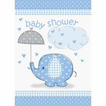 Umbrella Elephant Blue Boy Baby Shower 8 Ct Party Invitations - $2.81