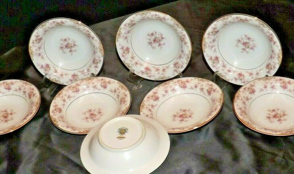 Noritake China (8 Dessert Bowls) Charmaine 5506 AA20-2360H Vintage