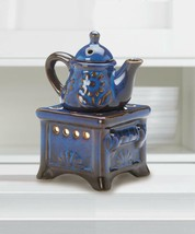 old fashioned teapot stove candle holder Wax tart Oil warmer Burner diff... - $14.01