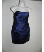 Davids Bridal Dress Size 2 Marine Navy Strapless Bridesmaid F15629 NWT $149 - $72.57