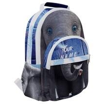 Rounded Multi Pocket Backpack kids school bag custom print name dumbo elephant - $53.00
