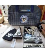 Pittsburgh Penguin gift lot - duffle bag, sign, tree ornament, bottle h... - $21.00