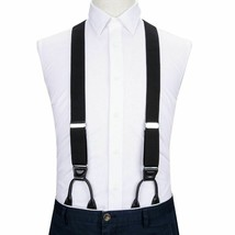 Men Casual Suspender Solid Pattern High Quality Adjustable Six Buttons Belt image 2