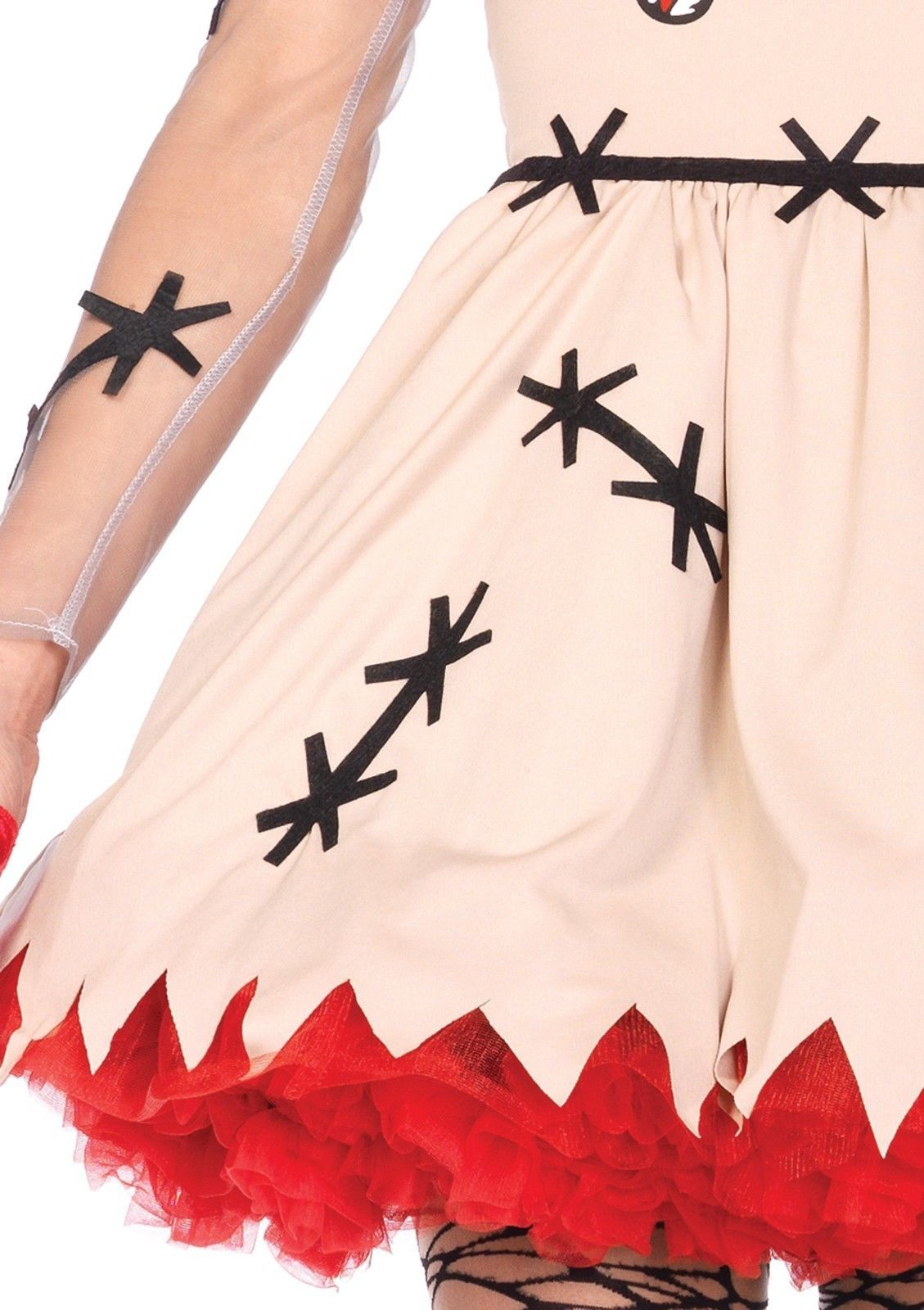Leg Avenue Voodoo Cutie Dress Heart Adult Womens Halloween Costume 85434