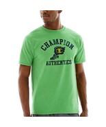 Champion Grafik Jersey T-Shirt GRÖSSE M, L Regenwald Heather Neu mit Eti... - $9.99