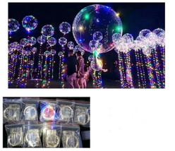 LED Bobo Balloon Light Up Transparent Balloon Birthday Wedding Party Dec... - $23.75