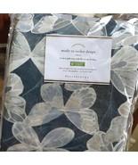 Pottery Barn Set 2 Butterfly Drape Blue 50x108 Blockout Pole Pocket Curt... - $348.00