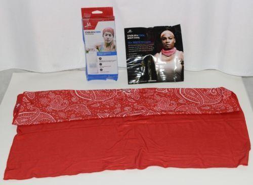 Mission 103116 Enduracool Polyester Spandex Blend Bandana Red Paisley