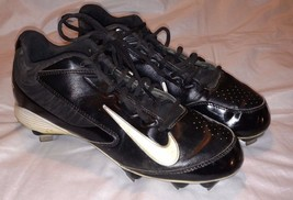 NIKE HUARACHE Baseball Softball Metal Cleats 8.5 Black White Nike Check ... - $19.95