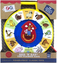 NEW Fisher Price Classic Farmer See N Say Toddler Fun Play Animal Learning Toy - $14.99