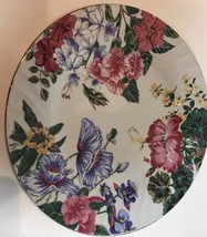 "Vintage 1995 ""ROYAL GALLERY"" Floral China Dinner Plate 10.5"" D - $18.80"