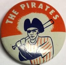 1960's Pittsburgh Pirates Vintage Pin Pinback .75 Inch Baseball MLB Crane Orange - $12.82