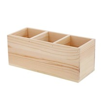 Coideal Wood Pen Pencil/Remote Control Holder Container Stationery Case ... - €17,05 EUR