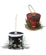 Christmas House Winter Hat Ornament approx.3 inches 6 Black - $12.00