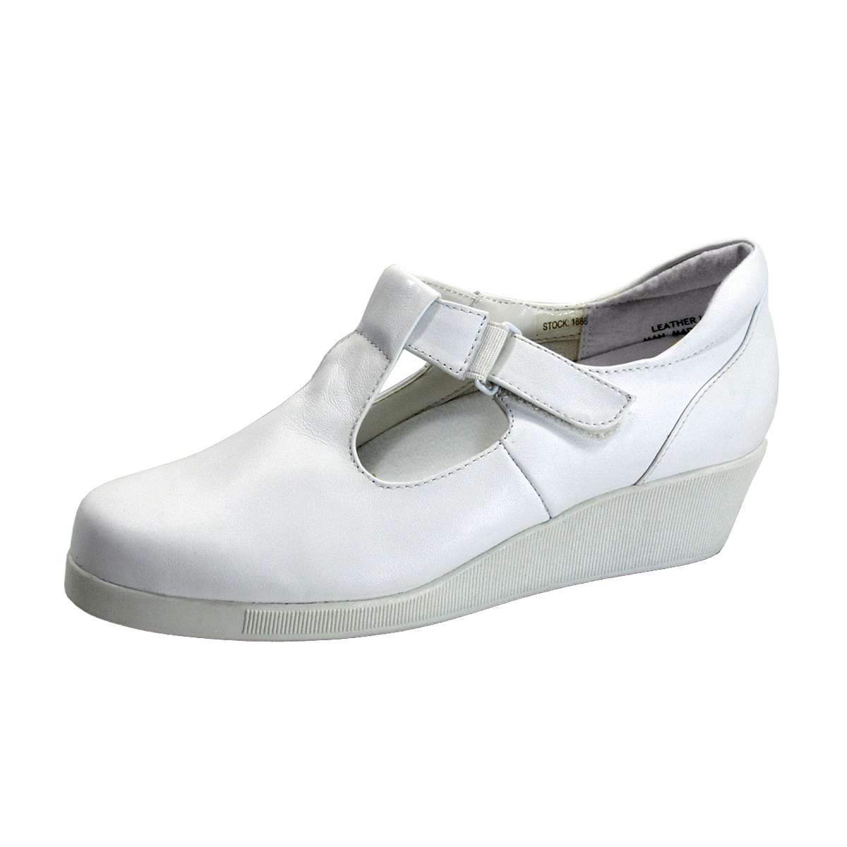 24 HOUR COMFORT Reanne Women's Wide Width T-Strap Leather Shoes - $39.95