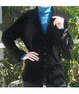 BRAND NEW Boxed Anne Fontaine Black Velvet Jacket~Euro Size 4~Large~NWOT - $299.99