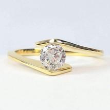 Mia D'ora .50CT Tension Set Bypass IOBI Lab Created Diamond Ring - $135.15