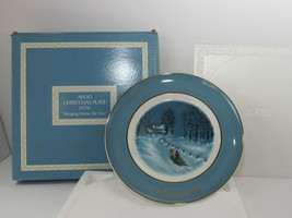 1976 Avon Christmas Plate Series Third Edition Bringing Home the Tree wi... - $21.73