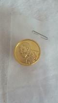 "Tiny .5""VINTAGE Miniature Replica Coin Portrait Lapel Pin, Gold Tone, Taiwan, - $9.89"